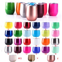 Wholesale Cold Coffees - Cute 9 oz Beer mugs Party 9oz stainless steel wine glasses unbroken coffee mugs wine tumbler keep cold longer 27 colors