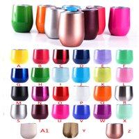 Wholesale Cute Colors - Cute 9 oz Beer mugs Party 9oz stainless steel wine glasses unbroken coffee mugs wine tumbler keep cold longer 27 colors