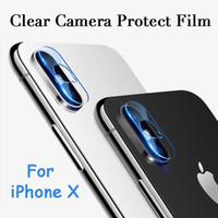 protetor de tela de óculos temperados venda por atacado-Para iphone x camera vidro filme lente da câmera xphone protetor de tela acessórios de proteção anti-risco óculos de fibra macia temperado