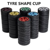 Wholesale Tire Car Cup Water Bottle Creative Coffee Mugs Stainless Steel Liner Outdoor portable thermos Water cup Ml With box