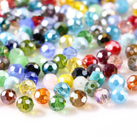 Wholesale 3 mm Czech AB Color Glass Beads Round with Hole Faceted Crystal Beads for Jewelry Making Handmade Supply