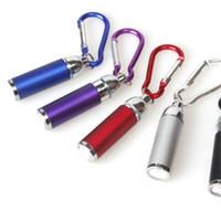 Wholesale ultrafire flashlight torch online - Led Mini Flashlight Keys Chain Light Torch Portable Key Buckle Zoom Mountaineering Battery Outdoor Gadget Flashlights Multi Color yd jj