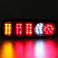 led traktor anhänger lichter großhandel-2pcs LED Auto Rückleuchten Anhänger Dumper Traktor Stop Heckleuchten Violet Tail Indicator Light