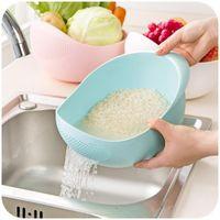 Wholesale used 19 - Rice -Rinsing Machine Rice Washing Sieve Plastic Rice Rinsing Basket Kitchen Use Water Filter Vegetable Washing Basket 19 *18cm