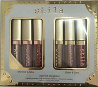 Wholesale Travel Size Makeup Wholesale - NEW makeup Eye For Elegance Shimmer & Glitter glow Liquid EyeShadow set 6 pcs Travel Set makeup palettes DHL Free shipping!