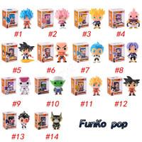ingrosso z giocattoli-FUNKO POP Dragon Ball Z Figlio Goku Vegeta Piccolo Cell Action PVC Figure da collezione Modello action figure a sorpresa bambola per i bambini giocattoli
