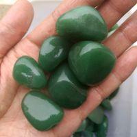 Wholesale Cube Element - 200g 40mm Bulk Green Aventurine Tumbled Stone Quartz Chips Gravels Specimens C168