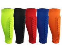 Wholesale calf shin support - Honeycomb Calf Sports Protection Leg Sleeve Sports Leg Protection Basketball Football Shin Pads Anti-Crash Leg Support