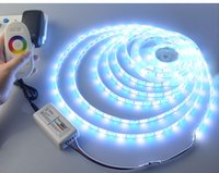 12v licht dimmer großhandel-LED-Streifenlicht Zubehör: DC12V 24/44-Tasten IR RGB-Steuerdimmer, 2,4-G-Wireless-RF-Touchscreen-RGB / RGBW-Fernbedienung