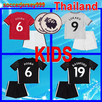 Wholesale United Kids - 17 18 LUKAKU kids soccer jersey uniform POGBA RASHFORD 2017 2018 MKHITARYAN ibrahimovic football shirt KITS UTD boys youth united