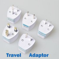 Wholesale uk pins - Universal Travel Adapter AU US EU to UK Adapter Converter,3 Pin AC Power Plug Adaptor Connector