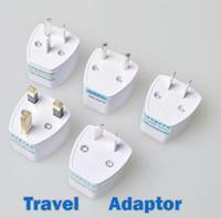 conectores do adaptador de corrente alternada venda por atacado-Adaptador de Viagem Universal AU EUA DA UE para REINO UNIDO Adaptador Conversor, 3 Pin AC Power Plug Adapter Connector