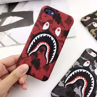 Wholesale plastic pc protector online – custom For iphone X Fashion D Cartoon camouflage shark Phone Case for iphone X XS XR XsMax S plus defender case Frosted PC protector Cover