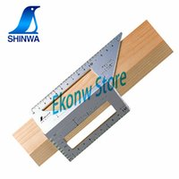 Discount japanese quality tools - High Quality Wood Tool Japanese Aluminum Alloy Or Plastic Woodworking Multifunctional Square 45 Degrees 90 Degrees Gauge Ruler