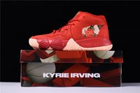 Wholesale Embroidery Collection - 2018 AAA Quality Kyrie 4 City Guardians Chinese New Year Red Embroidery Parquet City Edition Collection Guardians With Original Box