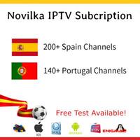 iptv sportkanäle großhandel-Abonnement IPTV Channels Line Portugal Spanien 400 IPTV Channels Paket movistar sport musica live tv VOD