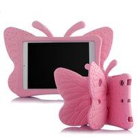 ingrosso mini shell di apple ipad-Butterfly il caso ipad / shell per IPAD mini 1/2/3/4 / per aria, air2 / per pro 9.7 pollici 5 pezzi lotto