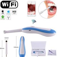 monitores de prueba de cámara al por mayor-WiFi Instrumento de prueba HD Cámara dental Endoscopio intraoral Inspección de monitoreo de luz LED Herramientas orales de video en tiempo real oral