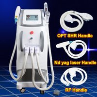 Wholesale ipl rf laser - OPT SHR IPL Machine IPL Painfree Laser Hair Removal ND YAG LASER tattoo removal e light RF Skin Treatment Acne Therapy Beauty Equipment