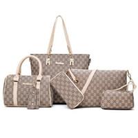 çapraz vücut omuz poşetleri toptan satış-Pembe sugao 5 renkler kafes 6 adet / takım moda çanta Lashes tasarımcı çanta tote çanta çapraz vücut çanta kadın messenger omuz çantası