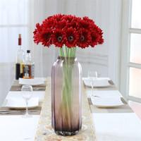 Wholesale colorful bridal bouquets - Colorful Sadin Daisy Bouquets Fashion ArtificialFlower Bridal Bouquet Classical Wedding Home Decorations SimulationFlowers Fresh 1 6lx X