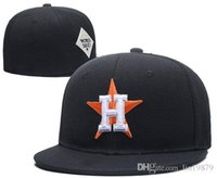 Wholesale h hat - 2018 New Fashion bone Astros H letter Baseball caps top quality Hip-hop Hat For Men Women Fitted Hats