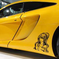 anime spiegel großhandel-Anime Hot Sexy Girl Vinyl Aufkleber Aufkleber Auto Auto Moto Bumper Glass Art