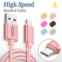 câble de données de marque achat en gros de-Lamchin Marque Top Qualité Nylon Tressé Micro USB Câble Type C Data Charg Câbles 4FT 6FT 10FT pour Samsung S8 Plus Avec Emballage