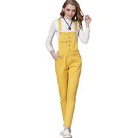 Wholesale overalls for ladies - Women Denim Overalls Jumpsuit Ladies Sexy Slim Plus Size Jeans For Womens 4 Season Wear