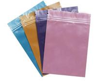 Wholesale Digital Foil - Pink Gold Green black color Metallic Mylar ziplock bags flat bottom Black Aluminum foil small zip lock plastic bags 1000pcs lot