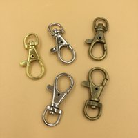 Wholesale Luggage Clasps - Vintage Metal Luggage Bag Dog Buckle Snap Hook Bag Hanger Lobster Clasp DIY Sewing Handmade Key Chain Buttons 38*15*5.2mm