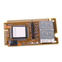 mini cartão postal venda por atacado-Freeshipping Notebook Cartão de Diagnóstico 2-Digit Mini PCI / PCI-E LPC POST Analisador Tester