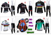 Wholesale 2018 BORA long sleeve cycling jersey sets Spring AutumnTour de France Bisiklet wear bike maillot ropa ciclismo Bicycle MTB D GEL pad