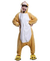 trajes de macaco para adultos venda por atacado-Unisex Adulto Macaco Cosplay Pijama Traje Anime Dos Desenhos Animados Pijamas