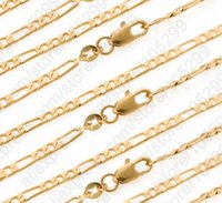 Wholesale yellow gold necklace clasp for sale - Group buy GIEMI Retail Figaro Necklace quot Yellow Gold Filled Chain With Lobster Clasps Man Women Body Jewelry Accessoies Punk