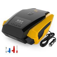 car tire pump оптовых-Новый портативный автомобильный светодиодный цифровой тюнер Inflator 12V 150PSI Tire Gauge Air Compressor Pump Бесплатная доставка