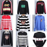 Wholesale Hand Knit Cotton - 2018 New High Quality Tiger Brand Men's Twist Knit Cotton winter Sweater male Jumper Pullover Men Round Neck H Designs Cardigan designer