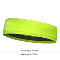 logo kafa bandı toptan satış-Neon sarı Rahat spor açık elastik renk bandı Ter Bandı Spor Bandı ile yansıtıcı baskılı logo şapkalar