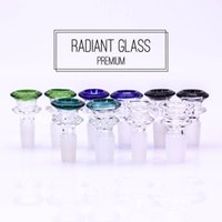 Wholesale cone pipe - Glass bowl male 14mm 18mm double layers colorful bong accessory cone smoking pipes 2018 latest release free shipping