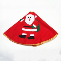 ingrosso ornamento decorazioni di ricami-Bordo oro Tessuti non tessuti Ricamo Tappeto Albero di Natale Gonna Surround Home Ornament Decoration Xmas Party Cute Delicate