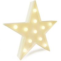 ingrosso la luce notturna segna le pareti-Decorazioni per la stanza LED Star Night Light Lampada a sospensione da tavolo a forma di stella per feste-Decorazione da parete per bambini