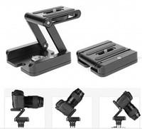 складывание штатива оптовых-Профессиональная камера Flex штатив Z Pan Tilt алюминиевый складной Z штатив кронштейн головы решение фотостудия
