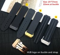 Wholesale big bang watch bands for sale - Group buy Black Silicone Rubber watch Strap mm For for BIG BANG authentic Men Watchband band logo on stainless buckle option