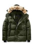 ingrosso giacche di marca d'oca-Canada Uomo Marca Size 90% Goose Tinta unita Parker Coat Piumino da uomo Outdoor Sports Cold Warm Down Jacket
