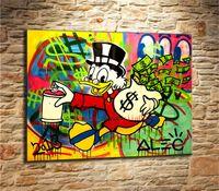 Wholesale modern nude oils resale online - Cartoon Graffiti Canvas Painting Living Room Home Decor Modern Mural Art Oil Painting