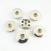 Wholesale leather circle belt - 20PCS DIY Snap Button Slide Charm Base For 8MM Leather Bracelet Belt Fit 18MM Snap Button interchangeable Jewelry