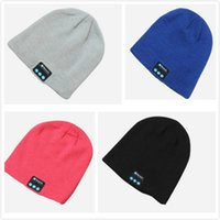 Wholesale Connect Computers - Creative Personality Knit Bluetooth Music Cap Especially Soft and Warm To Connect Bluetooth Music Headset Hat Support Computer Mobile Table