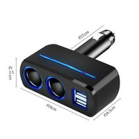 Wholesale Charger Socket Adapter - Dual Cigarette Lighter Sockets Adapter Quick Car Charger 80W 3.1A 2 USB Interface For iPhone 6 7 plus Smart Phones DVR GPS