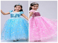 Wholesale party dresses for teenagers for sale - 2017 colors Summer Blue and Pink Evening Dresses Halloween Party Cosplay Princess Dresses Christmas Dresses For Teenager Girl
