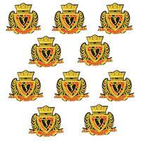 eisen gekrönt großhandel-10 stück stickerei abzeichen patches für kleidung eisen mode krone patch für kleidung applique nähzubehör aufkleber auf tuch eisen auf patch